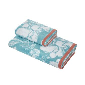 Asciugamano cotone biologico motivo floreale