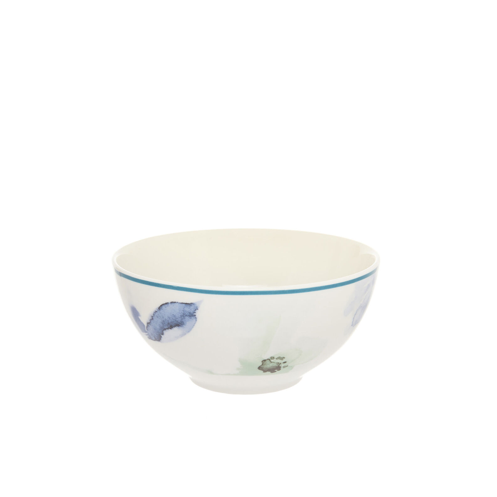Small bowl in new bone China with floral decoration