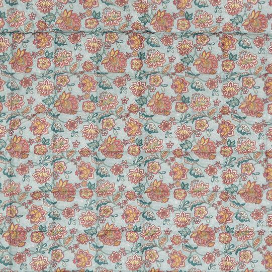 Plaid trapuntato cotone biologico fantasia fiori