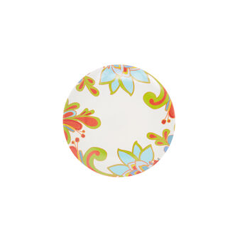 Melamine side plate with red flower