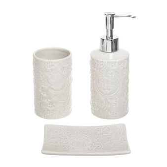 Rose ceramic bathroom set