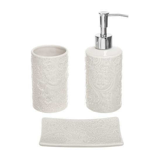 Rose ceramic bathroom set