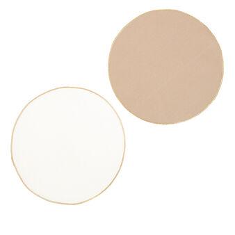 Set 2 tovagliette puro cotone bordo lurex