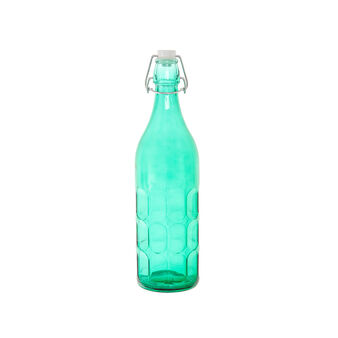 Coloured glass bottle