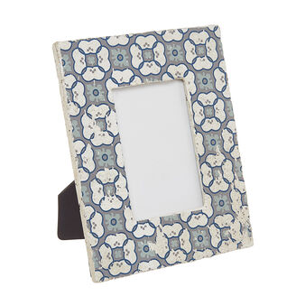 Cement photo frame with azulejos decoration