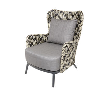 Marrakesh armchair in polyrattan and aluminium