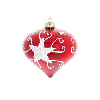 Hand-decorated mirror-effect glass onion bauble