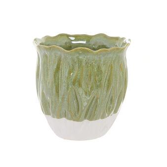 Cachepot in ceramica bicolore