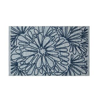 Tappeto bagno puro cotone ricamo floreale