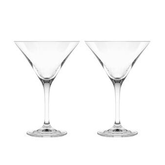 Set of 2 glass cocktail goblets