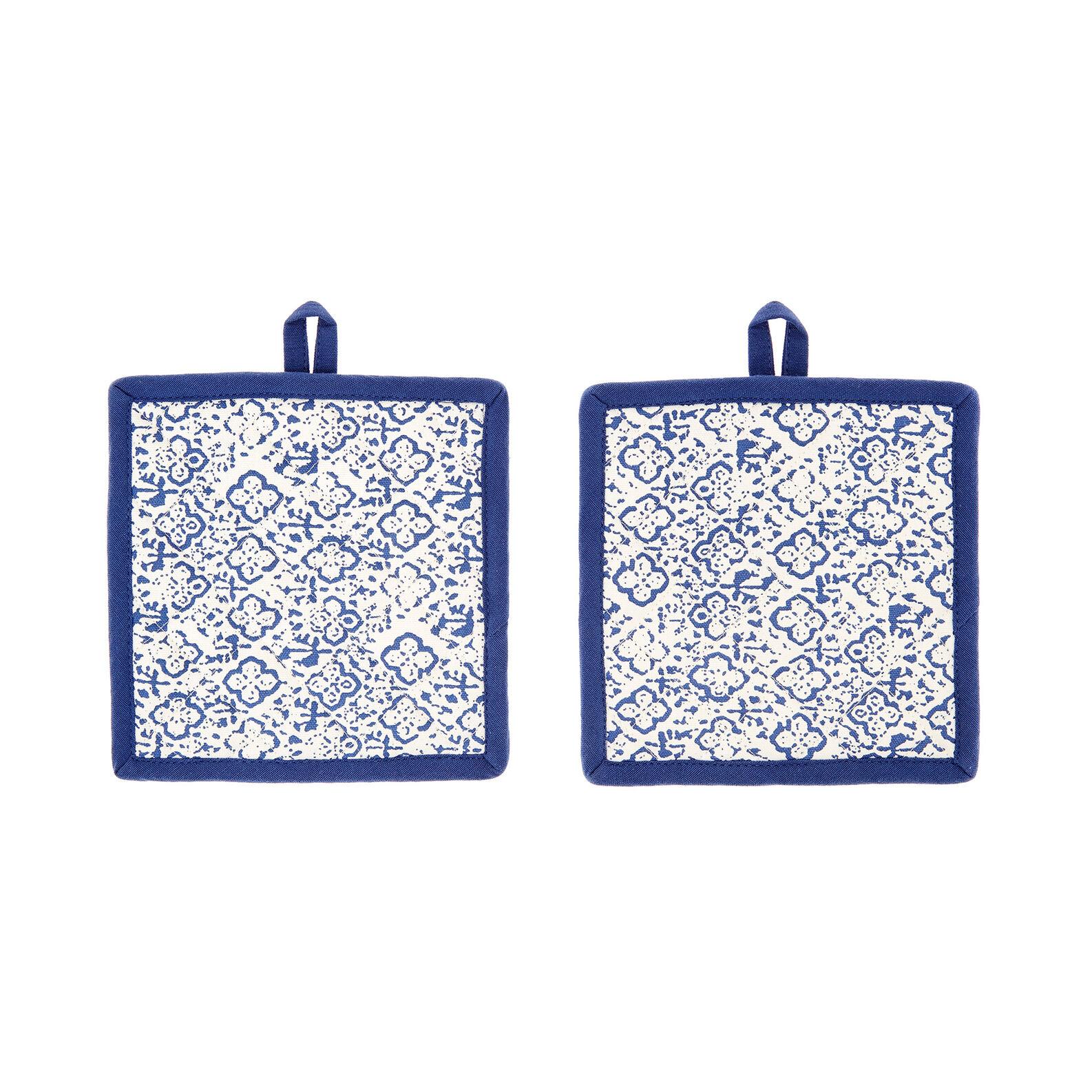 Set 2 presine puro cotone stampa ornamentale