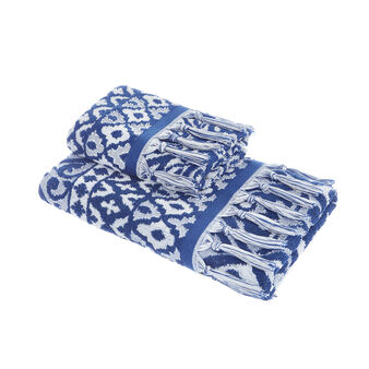 100% cotton jacquard majolica towel