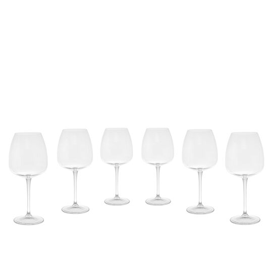 Set of 6 Bohemia crystal wine goblets