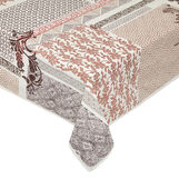 100% cotton tablecloth with patchwork print