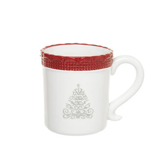 Ceramic mug with tree decoration