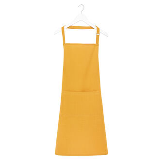 Solid colour apron in 100% iridescent cotton