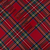 Tartan motif cotton throw
