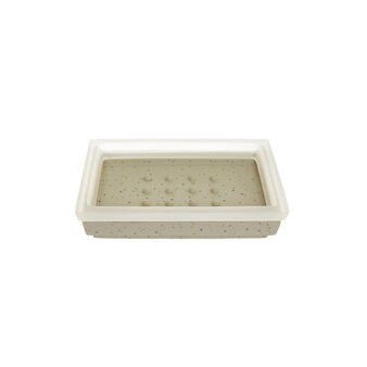 Grey cement-effect soap dish