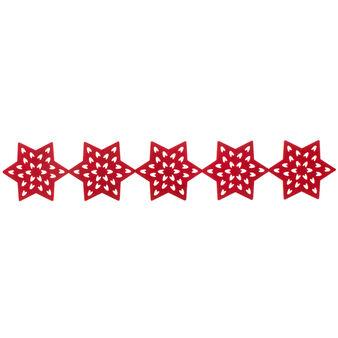 Openwork star weave felt