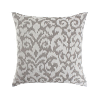 Jacquard cushion with damask pattern