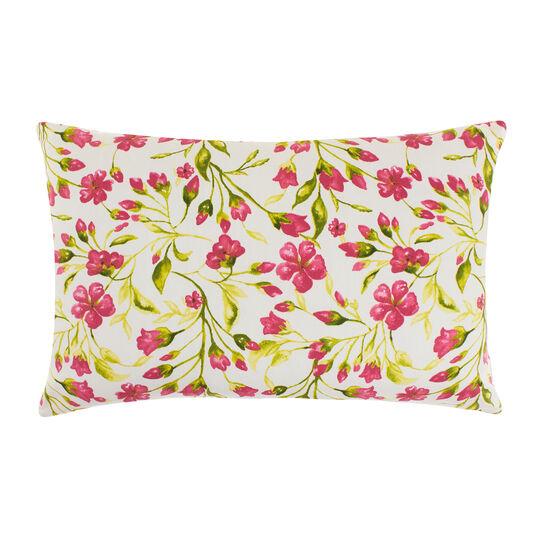 Cuscino puro cotone stampa fiori