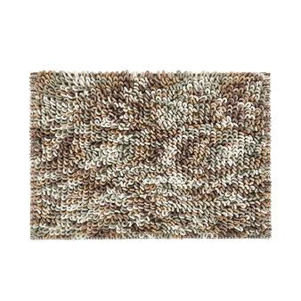 Bath mat in shaggy cotton blend