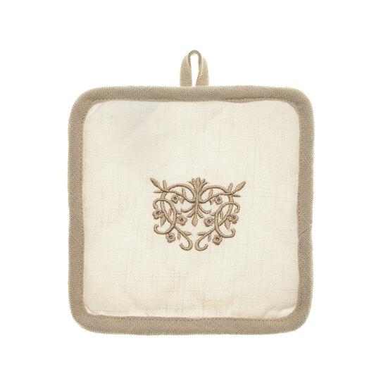 Burano embroidered pot holder