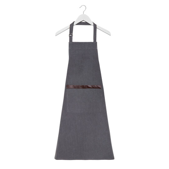 Stonewashed cotton kitchen apron