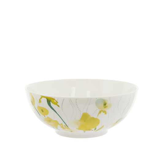 Bowl in new bone China with yellow flowers