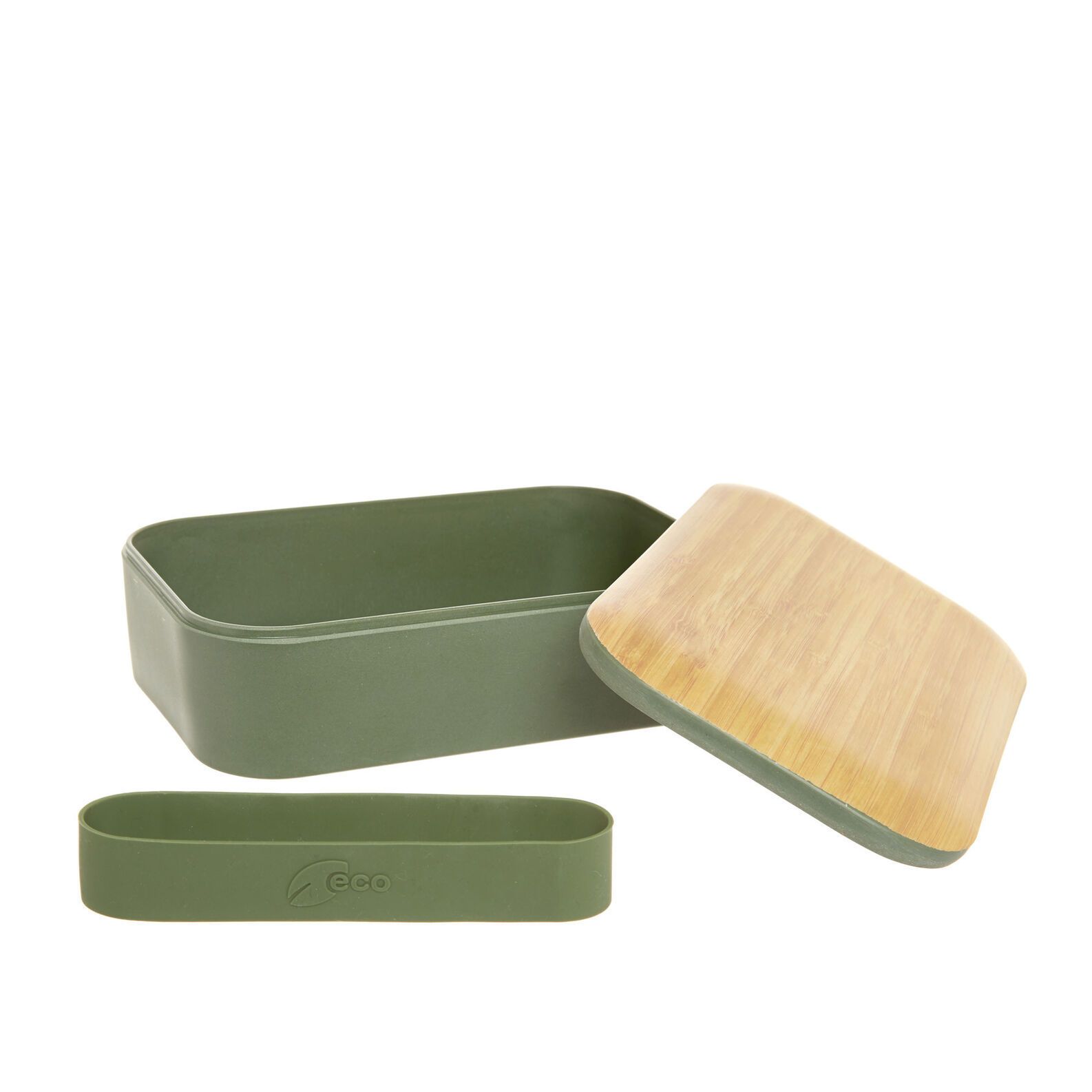 Lunch box in wood and bamboo fibre