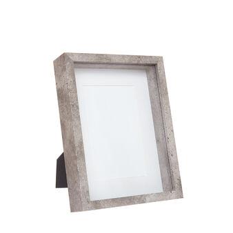 Stone-effect photo holder