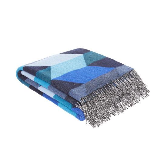 Plaid misto lana motivo geometrico