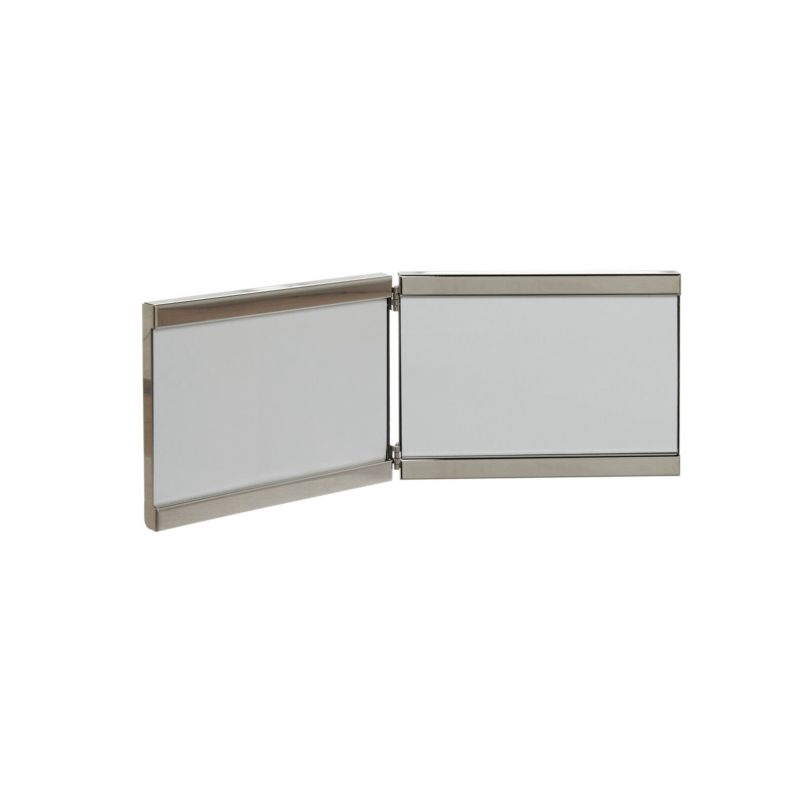 Silver-plated photo holder with two frames