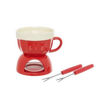 Stoneware fondue set