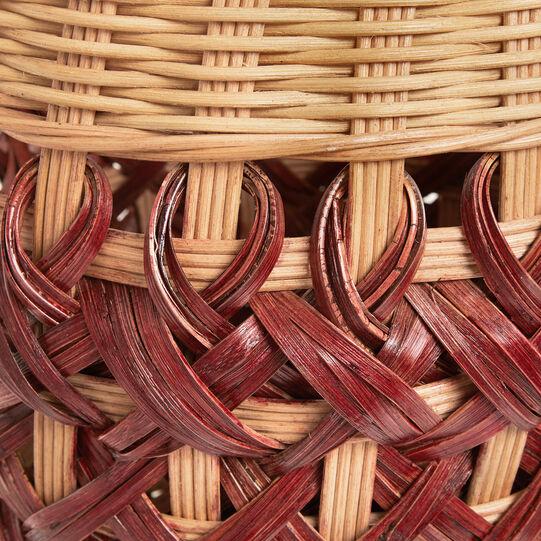Hand-woven rattan basket