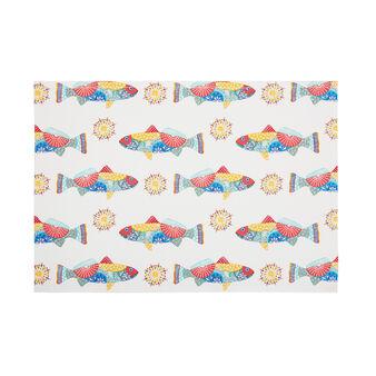 Tovaglietta puro cotone stampa pesci messicani