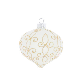 Hand-decorated onion bauble with swirls