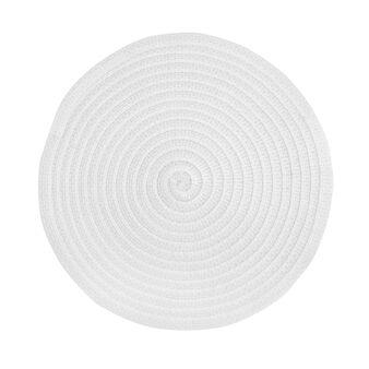 Table mat in plastic lurex