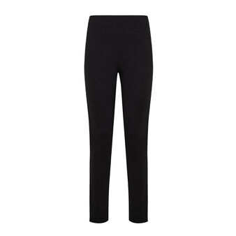 Solid color stretch fabric trousers