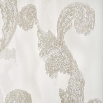 Curtain fabric devore ramage motif hidden loops
