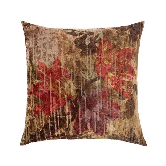 Devorè velvet cushion with flowers 43x43cm