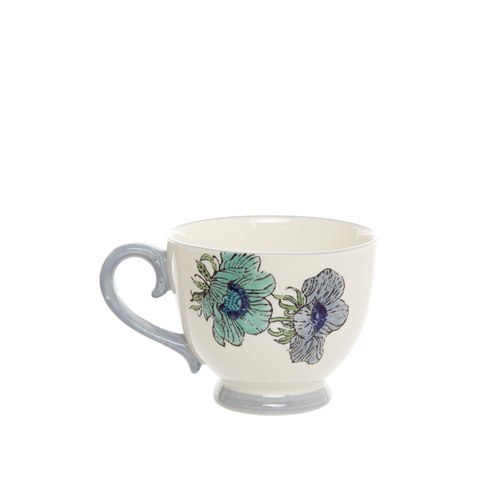 Tazza colazione ceramica decoro floreale