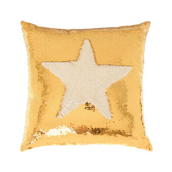 Cuscino con paillettes oro 45x45cm