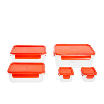 Set of 5 plastic containers
