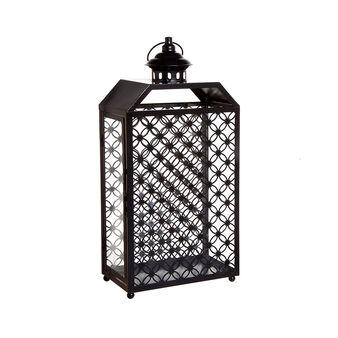 Lanterna in vetro e metallo