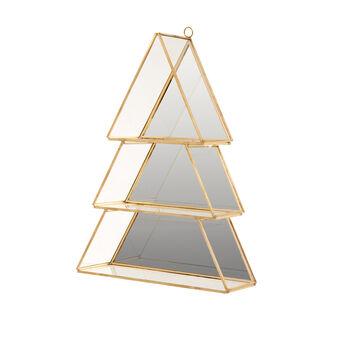 Christmas tree-shaped glass cabinet