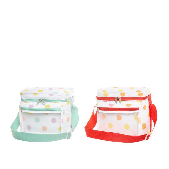 7L polka dot cooler bag