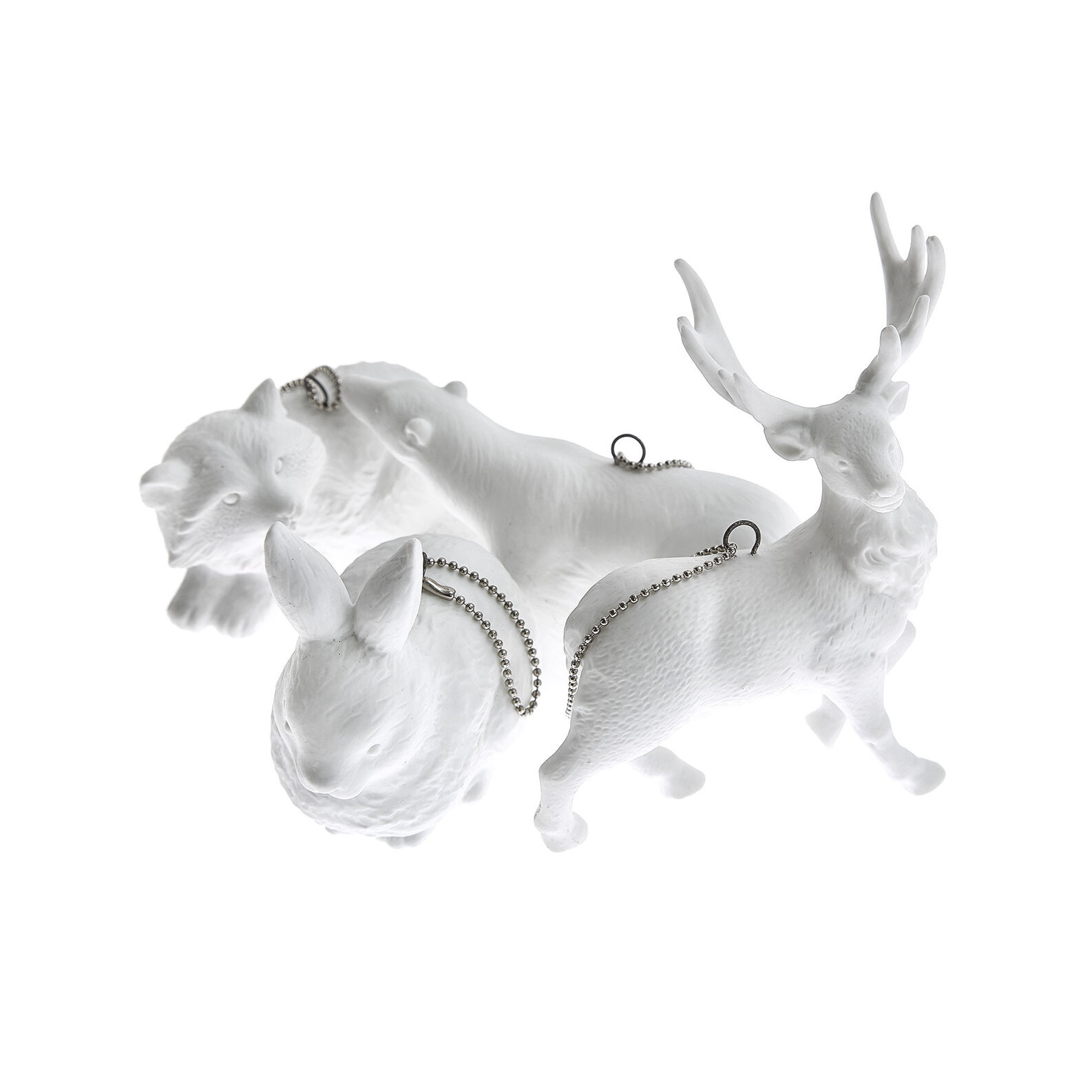 Porcelain polar bear decoration