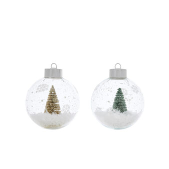 Hand-decorated glass tree bauble