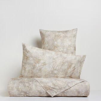 Portofino flat sheet in 100% cotton satin with print